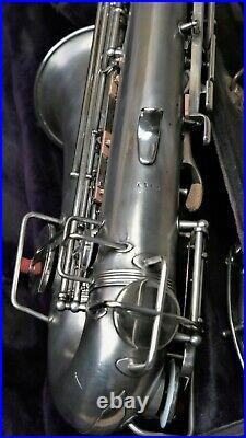 1920's Perfacktone Silver Alto Sax with Gold Wash Bell Buescher Stencil #VAS50