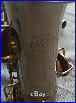 1922 CG Conn New Wonder Alto sax nickel plated