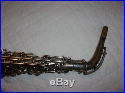1924 Conn New Wonder Pre-Chu Alto Sax/Saxophone, Worn Silver, Plays Great