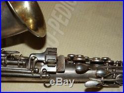 1927 Conn New Wonder II Chu Alto Sax/Saxophone, Original Silver, Plays Great