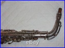 1927 Conn New Wonder II Chu Alto Sax/Saxophone, Silver, Plays Great