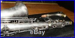 1928 CONN New Wonder II Chu Berry Silver Plated Alto Sax