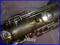 1928 Conn New Wonder II Chu Alto Sax/Saxophone, Silver, Plays Great