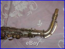 1930 Conn New Wonder II Chu Alto Sax/Saxophone, Worn Silver, Plays Great