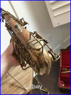 1936 Buescher Aristocrat Series I Alto Saxophone Sax Slant Signature 01 Neck
