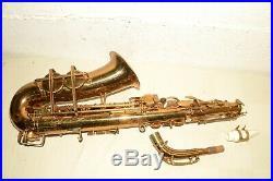 40s Vtg BUESCHER True-Tone ARISTOCRAT Sax BIG B +Case +Extras ALTO