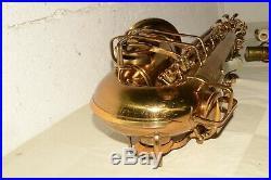 40s Vtg BUESCHER True-Tone ARISTOCRAT Sax BIG B +Case +Extras ALTO SAXOPHONE