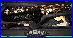 ALTO SAXOPHONE Eb+Fa# BLACK NICKEL & GOLDEN KEYS NEW ORLEANS DVD & 10 REEDS