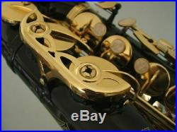 ALTO SAXOPHONE Sax BLACK & GOLD, Non Stick Pads NEW Best Value