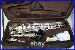 Allora Paris Series AAAS-805 Professional Level 2 Alto Sax Nickel Body