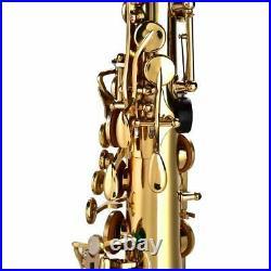 Alto Eb Sax Saxophone Brass Golden Set with Storage Box Mouthpiece Grease