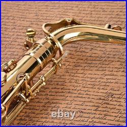 Alto Eb Sax Saxophone Brass Golden Set with Storage Case Mouthpiece Grease UK