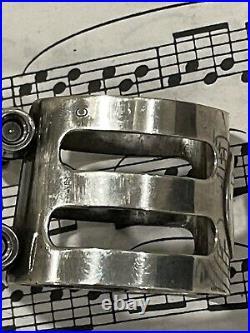 Alto Sax Wood Stone Ishimori Sterling Silver Ligature