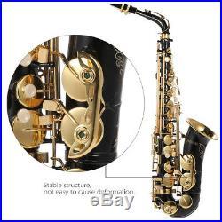 Alto Saxophone 82Z Key Brass Lacquered Gold Eb E Flat Sax + Case Care Set T8X9