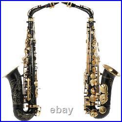 Alto Saxophone Brass Eb Sax 82Z Key with Storage Box Mouthpiece Care Kit T2P1