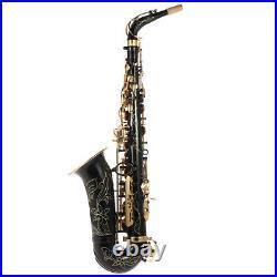 Alto Saxophone Brass Lacquered Gold E Flat Sax 82Z Key Woodwind Instrument W7E3