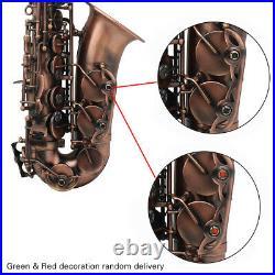 Alto Saxophone Red Bronze Eb E-flat Sax with Case Mouthpiece Care Accessory F6W0