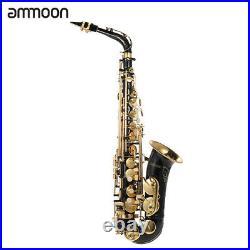 Ammoon bE Alto Saxphone E Flat Sax 82Z Key Type with Accessories Kit Case F4M5