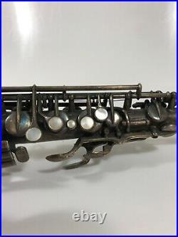 Antique French Alto Saxophone Guenot Sternberg Sax For Restore Tlc Saxophon