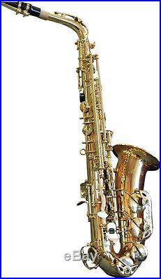 Axiom Alto Saxophone Quality Student Beginner Sax with Case and 2 Year Warranty