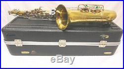 BUESCHER Aristocrat Alto Saxophone Case Neck Serial #522521 Sax Vintage