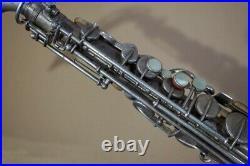 BUESCHER True Tone Silver Matte ALTO SAX c. 1925