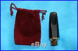 Bari Hybrid Hard Rubber & Gold Metal Alto Sax Mouthpiece, HAS5
