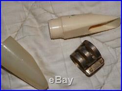 Brilhart Tonalin 4 Streamline Alto Sax Mouthpiece, #95XXX, Factory Lig and Cap