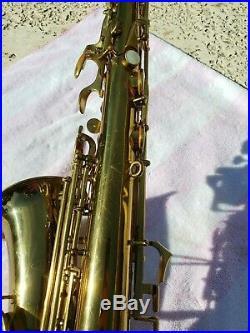 Buescher Aristocrat Alto Sax ALL ORIGINAL -Series 3 Model 140'Big B' Design