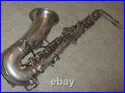 Conn Pre-Chu Alto Sax/Saxophone, Rolled Toneholes, Original Silver, Plays Great