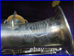 Early 20's Martin Silver plated Alto Sax, Just Serviced, Beautiful #VAS17