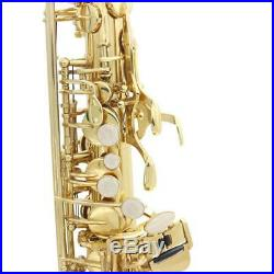 Exquisite Gold Plating Brass Eb Key Alto Saxophone Sax Set Golden