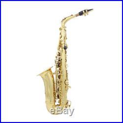 Finest Brass Eb E Flat Saxophone Gold-Plated Alto Sax Set High F# Key