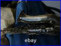 Hawkes and son silver plated alto sax century xx, gordon beeson pads