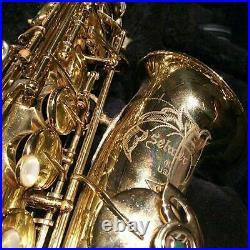 Henri Selmer Paris Alto Saxophone Sax Rare Collectible Music USA Omega F/s