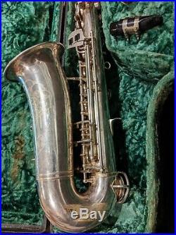 Max Keilwerth Hohner Rare Silver Alto Sax Saxophone Vintage Rolled Tone Holes