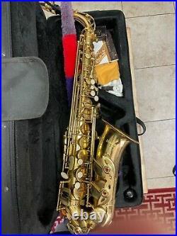 Mendini by Cecilio Mts-l 92d Gold Lacquer E Flat Alto Saxophone Sax