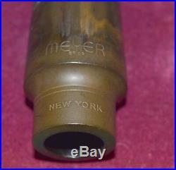 Meyer Brothers New York 4M Medium Alto Sax Mouthpiece-original 70 tip