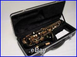 Professional Black Gold Alto Saxophone Sax Brand New