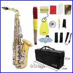 Professional Brass LADE Alto Saxophone Eb E-Flat Sax with Case Accessory G8O8