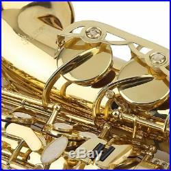 Professional Eb Alto Sax Saxophone Learning Paint Gold with Case & Accessories UK