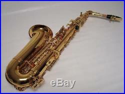 Professional Gold Alto Saxophone Sax Brand New