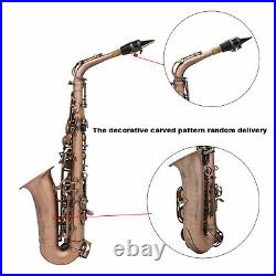 Professional Red Bronze Bend Eb E-flat Alto Saxophone Sax + Case+ Strap S2D6