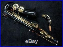 Project Piece! Buescher Aristocrat Alto Sax in Black, Serial #392447
