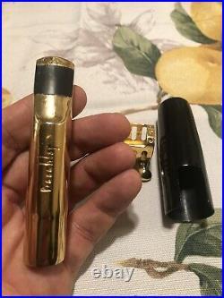 Rare! Vintage 1980s Bronze gold plated Beechler Belite 8 alto sax mouthpiece