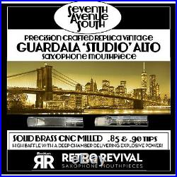 Retro-revival Seventh Ave South Replica Guardala Studio Alto Sax Piece. 90 New