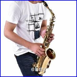 SALE Alto Eb Sax Saxophone Brass Golden Set with Storage Box Mouthpiece Grease