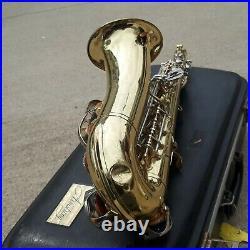 SAX Armstrong 3000 alto saxophone w hard shell case VTG estate find COMPLETE