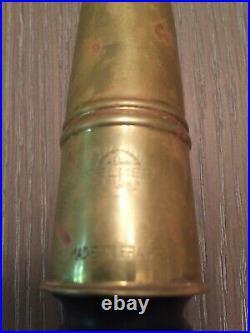 SELMER PARIS ALTO SAX MOUTHPIECE, short shank scroll, Soloist C with brass cap