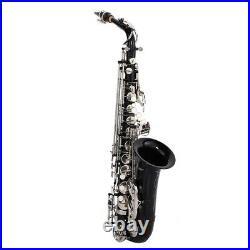 SLADE Brass Nickel Plating Saxophone E Flat Alto Curved Sax Saxophone Set New